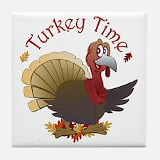 Turkey Time Tile Coaster