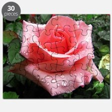 Pink Rose with Dew Puzzle