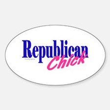 Republican Chick Oval Decal