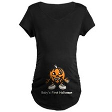 Babys First Halloween Maternity T-Shirt