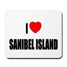 I Love Sanibel Island, Florid Mousepad