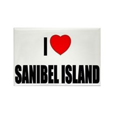 I Love Sanibel Island, Florid Rectangle Magnet
