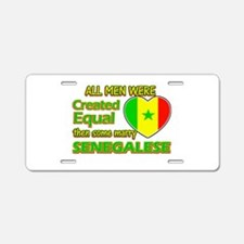 Senegalese wife designs Aluminum License Plate
