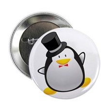 "Penguin Groom 2.25"" Button"