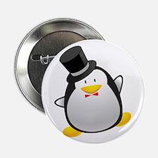 "Penguin Groom 2.25"" Button"