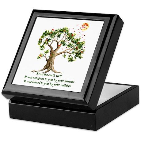 Kenyan Nature Proverb Keepsake Box