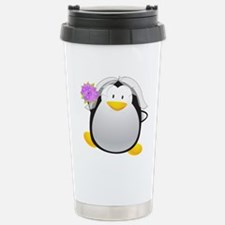 Penguin Bride Travel Mug