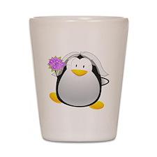 Penguin Bride Shot Glass