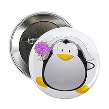 "Penguin Bride 2.25"" Button"