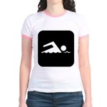 Swimming Area Jr. Ringer T-Shirt