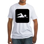 Swimming Area Fitted T-Shirt