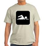 Swimming Area Ash Grey T-Shirt