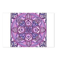 Hand of Fatima Mandala Postcards (Package of 8)
