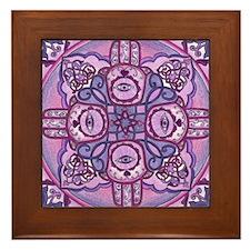 Hand of Fatima Mandala Framed Tile