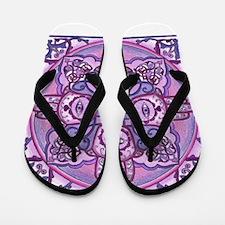 Hand of Fatima Mandala Flip Flops