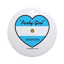 Party Girl Argentina Ornament (Round)
