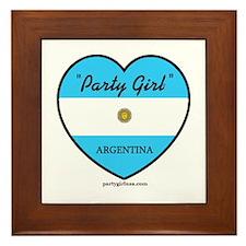 Party Girl Argentina Framed Tile