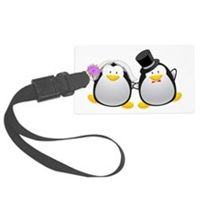 Penguin Bride and Groom Luggage Tag