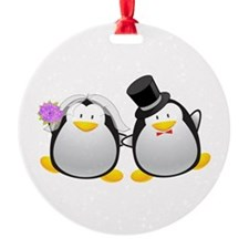 Penguin Bride and Groom Ornament