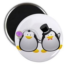 Penguin Bride and Groom Magnet