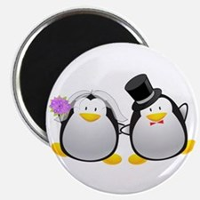 Penguin Bride and Groom Magnet