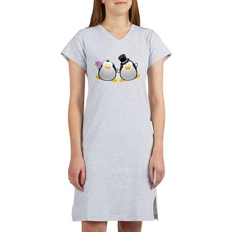 Penguin Bride and Groom Women's Nightshirt