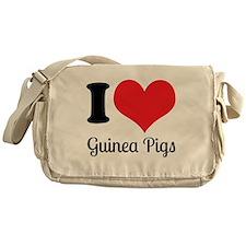 I Love Guinea Pigs Messenger Bag