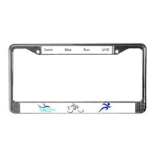 Triathlon License Plate Frame
