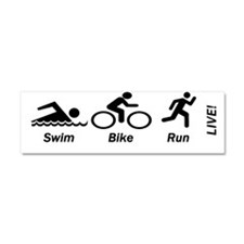 Cute Triathlon Car Magnet 10 x 3