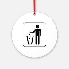 Trash Ornament (Round)