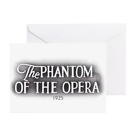 The Phantom of the Opera 1925 Greeting Cards (6)