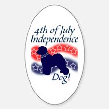 Independence Bichon Oval Decal