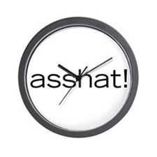 Asshat! Wall Clock