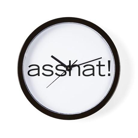 Asshat! Wall Clock