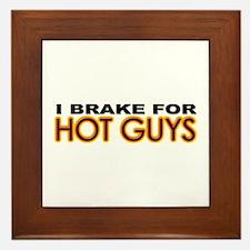 Brake for Hot Guys - Gay Framed Tile