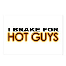 Brake for Hot Guys - Gay Postcards (Package of 8)