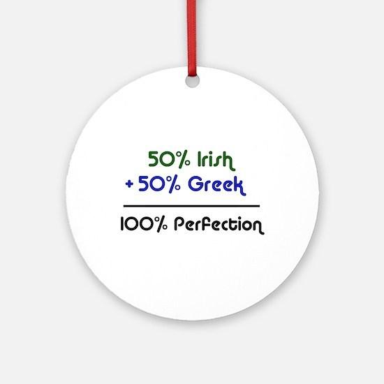 Irish & Greek Ornament (Round)