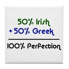 Irish & Greek Tile Coaster