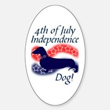 Independence Doxie! Oval Decal