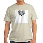 Tenor Sax Heart Ash Grey T-Shirt