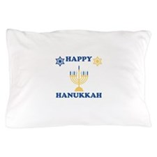 Happy Hanukkah Pillow Case