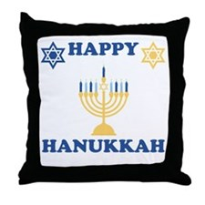 Happy Hanukkah Throw Pillow