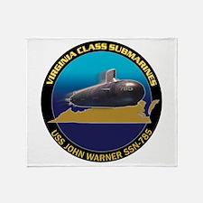 SSN-785 Design Team Logo Throw Blanket