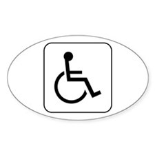 Handicap Accessible Oval Decal