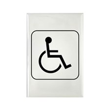 Handicap Accessible Rectangle Magnet
