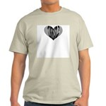 Tin Whistle Heart Ash Grey T-Shirt