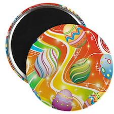 "Happy Easter Eggs Design 2.25"" Magnet (10 pack)"