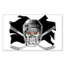 Pirate Hockey @ eShirtLabs.Co Sticker (Rectangular