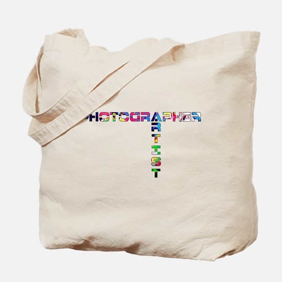 PHOTOGRAPHER-ARTIST-COLOR Tote Bag