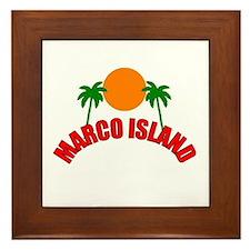 Marco Island, Florida Framed Tile